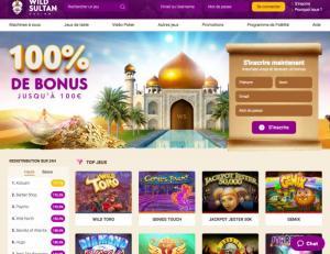 wild sultan casino accueil